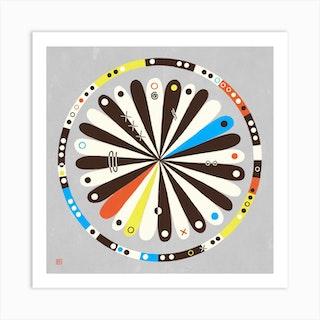 Target Meditative Mandala Art Print