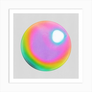 Holographic Sphere Art Print