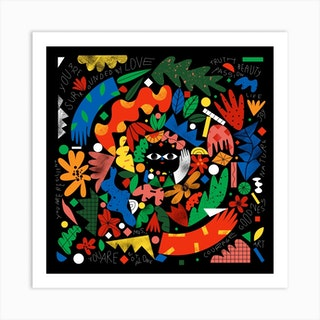 Mandala Square Art Print