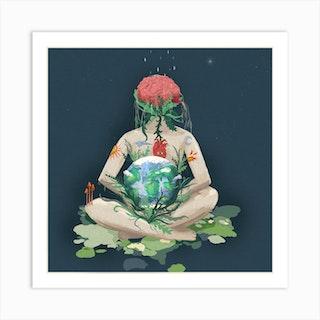 We Are Nature Square Art Print