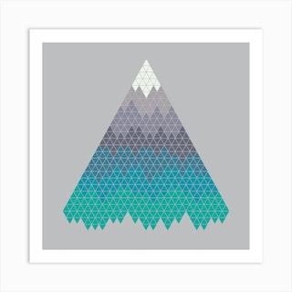 Many Mountains Square Art Print
