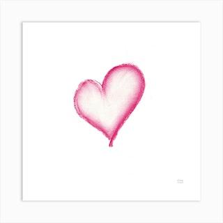 Simply Love Square Art Print