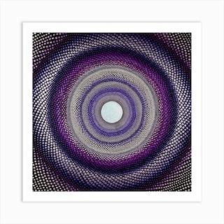Purple Tunnel Square Art Print