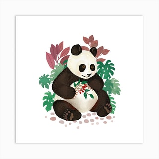 Panda Square Art Print