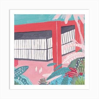 Lina Bo Bardi Sao Paolo Museum Square Art Print