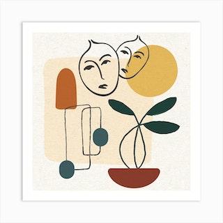 Memories Of Brazil Square Art Print