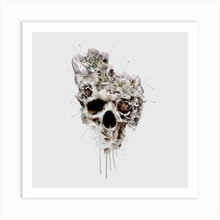 Skull Castle Square Art Print