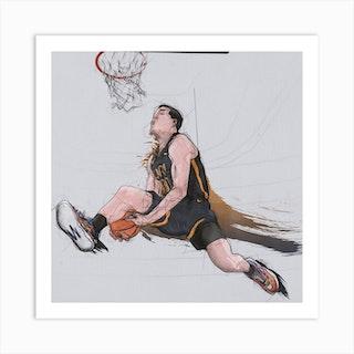 Basketball   Aaron Gordon Dunk Square Art Print
