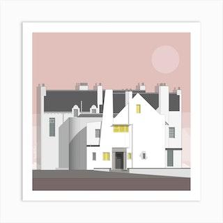 Hill House Pink Art Print