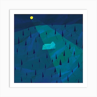 A Night In The Forest Art Print