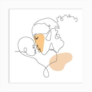 Mother's Love Square Art Print