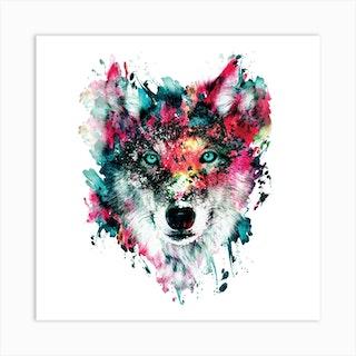 Wolf Square Art Print