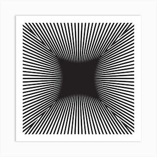 Converge Heavy Black Square Art Print
