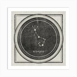 Zodiac Scorpio Art Print