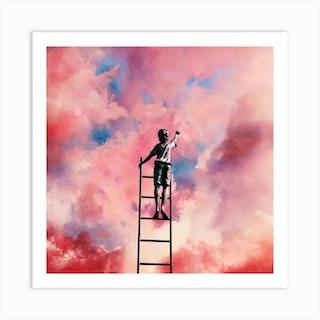 Cloud Painter Square Art Print