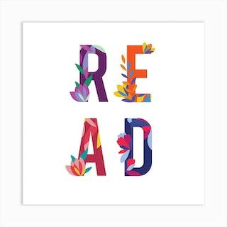 Readfloral Square Art Print