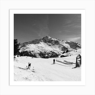 Man And Mountain Art Print