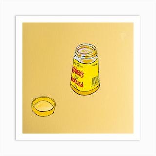 Colmans Mustard Square Art Print