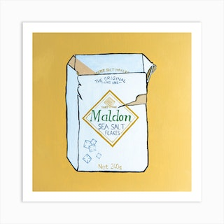 Maldon Sea Salt Square Art Print