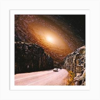 Intergalactic Highway Square Art Print