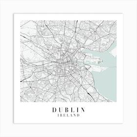 Dublin Ireland Street Map Minimal Color Square Art Print
