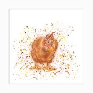 Curious Chicken Art Print