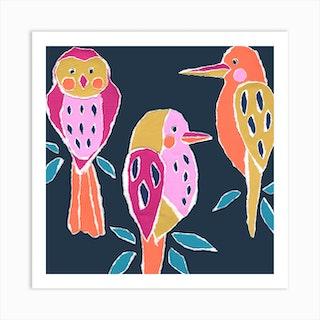 Bird Trio Art Print