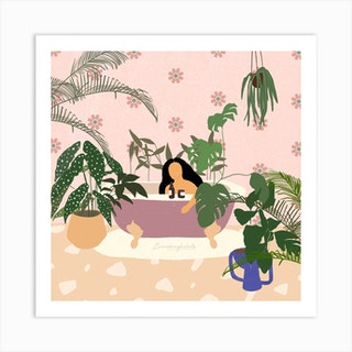 Relaxing Bath Art Print