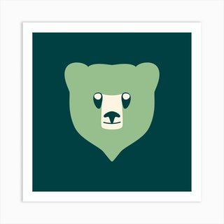 Bear Cub Mint Art Print