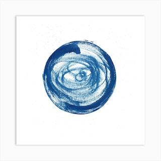 Full Circle 3 Square Art Print