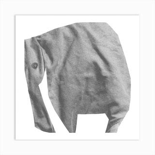 Elephant Square Art Print