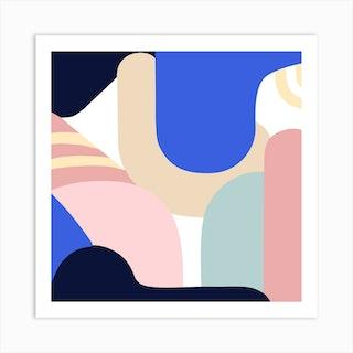 Blue Monday Ii Art Print