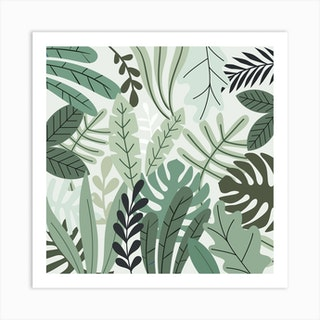 Jungle Love Square Art Print