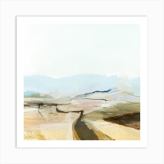 Country View Square Art Print