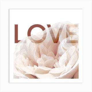 Rose Love Square Art Print