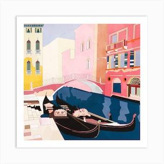Venezia 3 Square Art Print