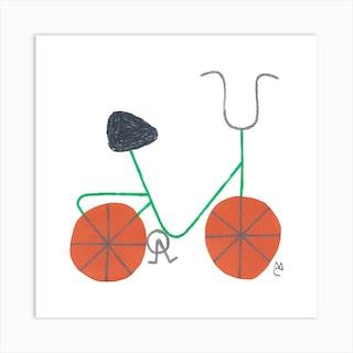 Bike 7 Square Art Print