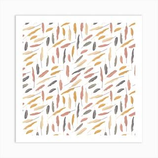 Feathers (Pollen)Square  Art Print