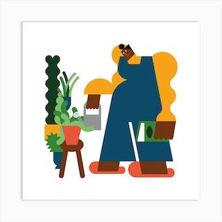 Plant Mum Square Art Print
