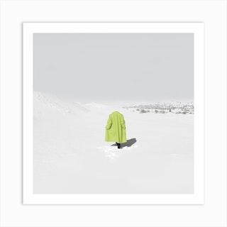 Neon Snow Art Print