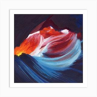 Antelope Canyon Square Art Print
