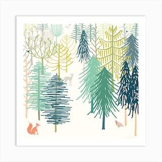 Winter Wonderland Square Art Print