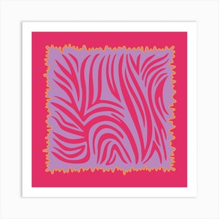 Fuchsia Tiger Square Art Print