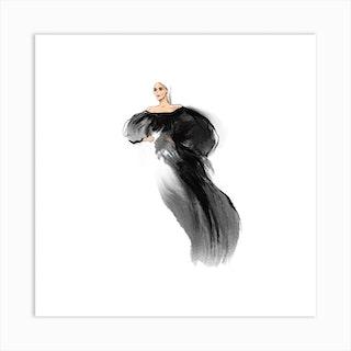 Lady Gaga Square Art Print