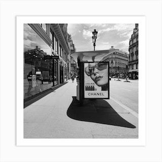 Chanel Billboard In Paris Art Print