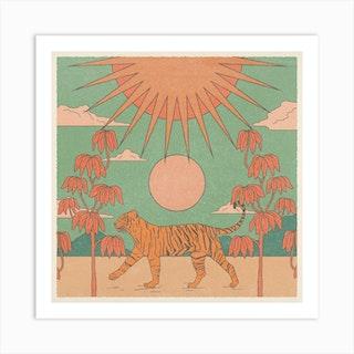 Tiger Queen Square Art Print