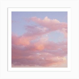 Clouds 02 Square Art Print