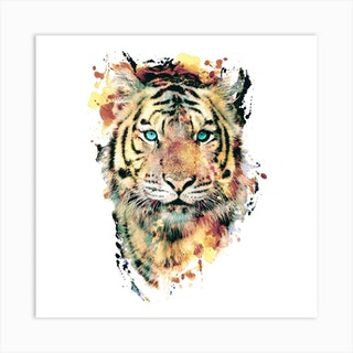 Tiger 2 Square Art Print