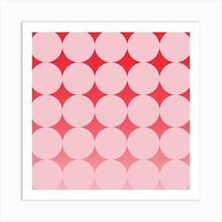 Circling Pink Square Art Print