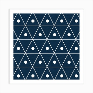 Harmony Blue Square Art Print